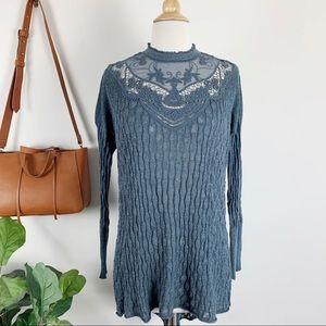 Free People lace sweater tunic